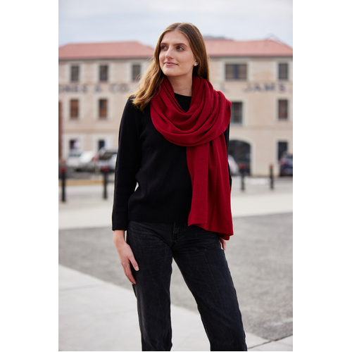 MERINO WRAP | Pomegranate
